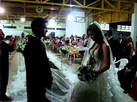 Noiva cantando para o noivo, Cassiane O tempo não pode apagar