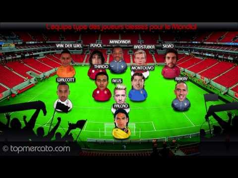 L'équipe type des joueurs blessés pour la coupe du Monde !