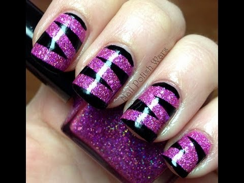Pink Tiger Nail Art Designs Easy Youtube Do It Yourself Nails Step