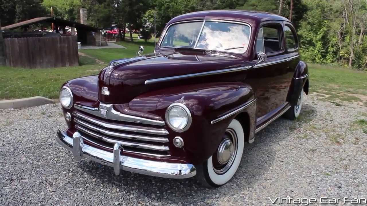 1948 ford super deluxe v8 2 door sedan in monsoon maroon for 1948 ford two door sedan