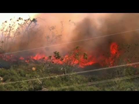 Firefighters make progress against Calif. wildfire