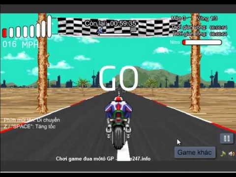 Chơi game đua môtô GP, video hướng dẫn chơi game đua xe đua môtô GP