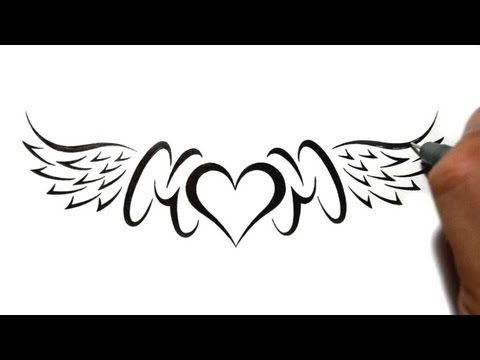 How To Draw Graffiti Hearts Drawing mom with a heart and