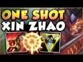 ONE COMBO ONE KILL WTF ONE SHOT XIN ZHAO TOO OP XIN ZHAO JUNGLE GAMEPLAY League of Legends