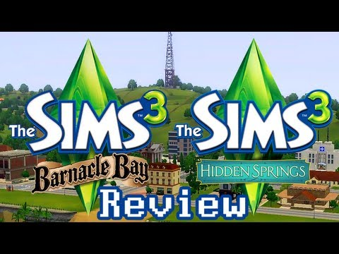 LGR - The Sims 3 Barnacle Bay & Hidden Springs Review - YouTube, Unscripted quick review of the towns for The Sims 3: Barnacle Bay and Hidden Springs. What all do these downloadable new towns include? Are they worth the ca...