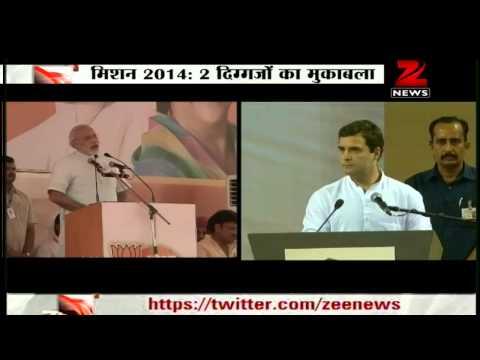 Narendra Modi takes on Congress Party at Jaipur rally