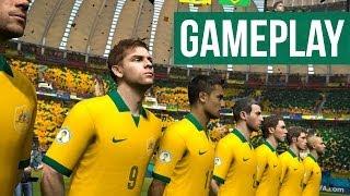 2014 FIFA World Cup Brazil Gameplay ENGLAND Vs BRAZIL