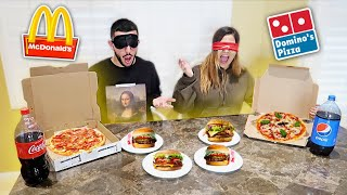 BLIND FAST FOOD CHALLENGE! Loser has to...