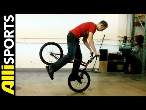 Matt Wilhelm BMX Flatland Hang Five Trick Tip, Step By Step