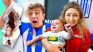 24 HOUR BABYSIT CHALLENGE w/GIRLFRIEND!! (Bad Idea)