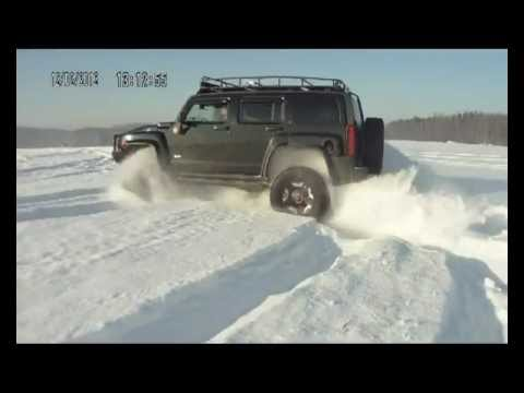 Snow Runer Hummer H3 Russian winter 120212 .avi