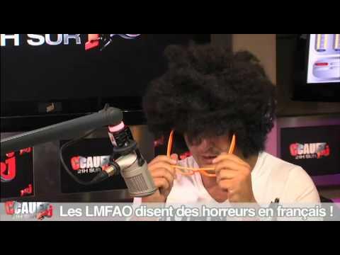 Les LMFAO disent des horreurs en français chez Cauet, Les LMFAO disent des horreurs en français chez Cauet sur NRJ