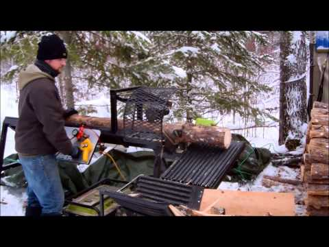 Custom Fabricated Homemade Firewood Processor Cheap and Easy Way to Cut Wood
