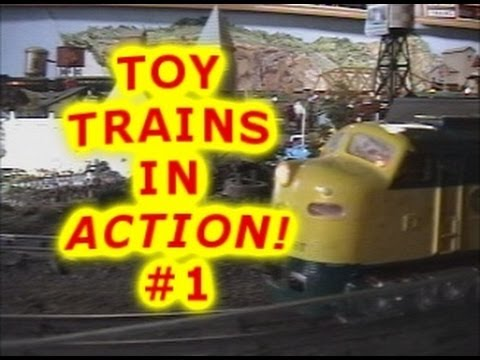 Toy Train Fun for Kids #1 | Toy Barn Model Railroad