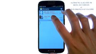 Samsung Galaxy S4 How Do I Delete Text Messages