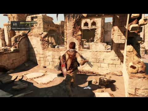 UNCHARTED 3 Drake's Deception Official Gameplay Desert Village