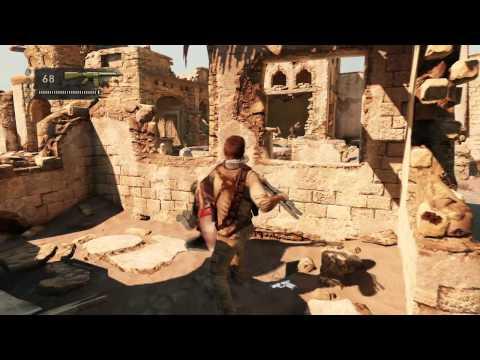 UNCHARTED 3 Drake's Deception Official Gameplay Desert Village