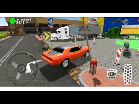 Shopping Mall Parking Lot - FUNNY 😝 CAR DRIVING # Android Simulation Games