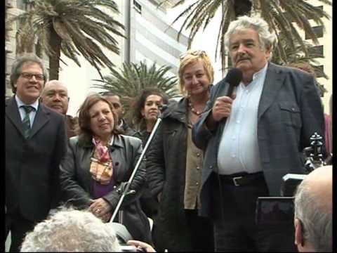 Mujica en el lanzamiento del V encuentro Latinoamericano de Fútbol Callejero