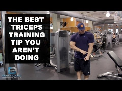 Ben Pakulski Tricep Training Tip For Horse Shoe Triceps Muscle!