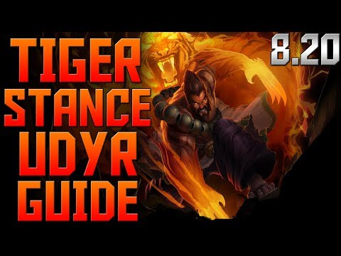How To Play Udyr Guide | League of Legends Tiger Stance Udyr Jungle: Udyr Build & Udyr Runes S8 8.20