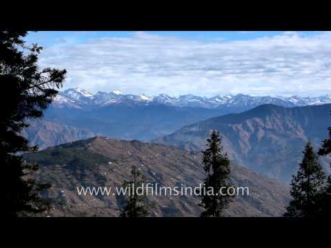 Panaromic view of the majestic mountains from Kuppad, Himachal Pradesh