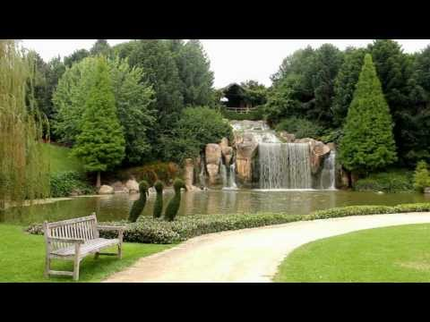 Relaxing Nature Scene - Beautiful Park, Gardens and Waterfall 1080p