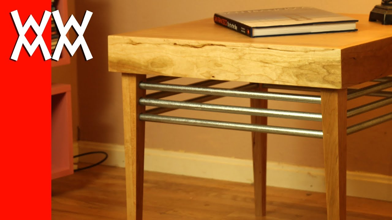 Build A Wood And Steel End Table  . Full resolution‎  file, nominally Width 2160 Height 1215 pixels, file with #CB0D00.