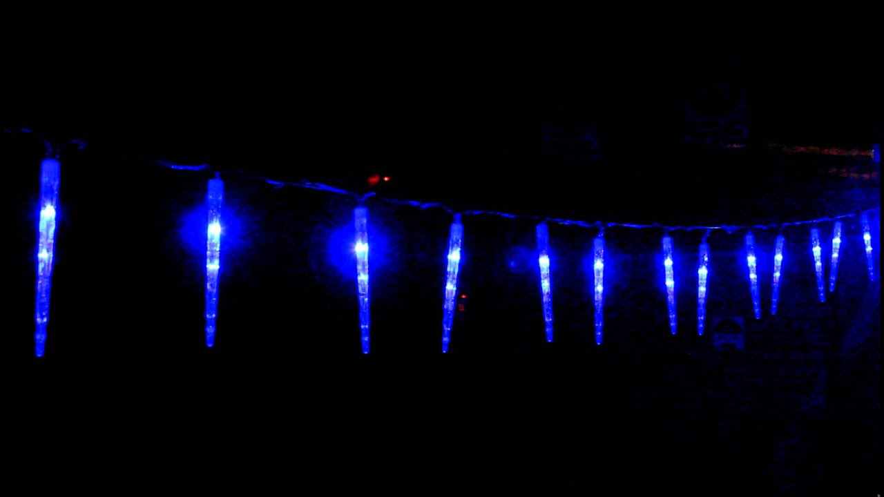 led blue icicle tube christmas lights snowing. Black Bedroom Furniture Sets. Home Design Ideas