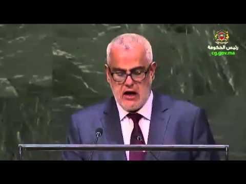 ابن كيران يلقي خطاب الملك بالجمعية العامة للأمم المتحدة