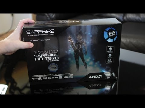 Sapphire 6GB TOXIC HD 7970 GHz Edition Video Card Unboxing, First Look &amp; Overview