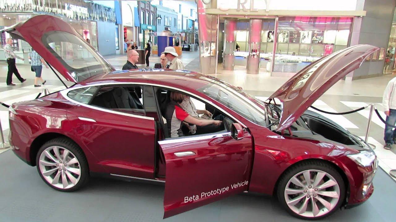 Tesla Electric Car Inside