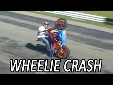 Motorcycle Wheelie CRASH