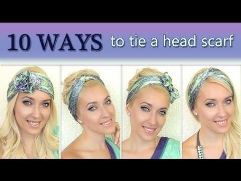 your head How to tie a headscarf turban and headband style - YouTube