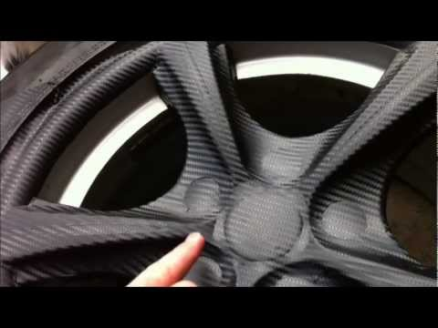 How to Carbon Fiber Vinyl your wheels!!!  DIY for Cheap n Easy
