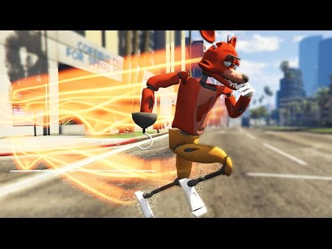 ANIMATRONICS WITH THE FLASH POWERS (SUPER SPEED) (GTA 5 Mods FNAF Funny Moments)