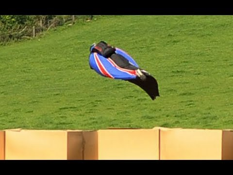 Wingsuit daredevil stuntman Gary Connery jumps from 2,500ft without parachute