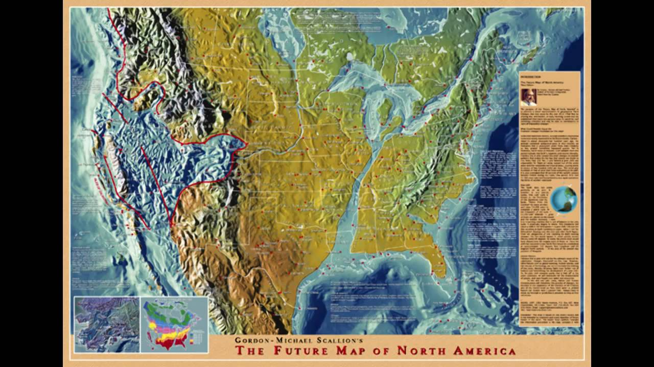 Future Map Of North America Youtube