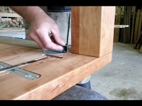 holztisch wotan mit ansteckplatten youtube. Black Bedroom Furniture Sets. Home Design Ideas
