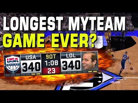 Longest NBA2K16 myTeam Game? 2K CRASHES?