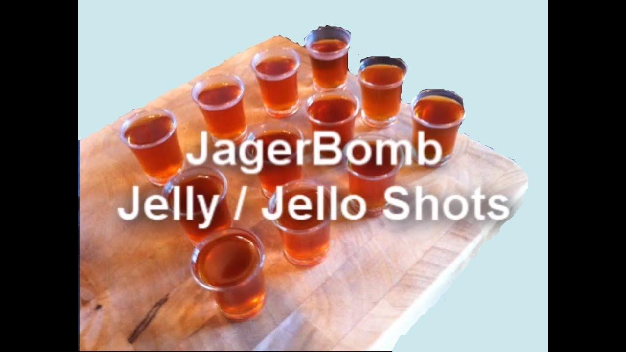 JAGERBOMB JELLY / JELLO SHOTS RECIPE - YouTube