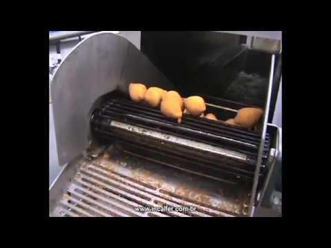 Incalfer --  Linha contínua para fabricação de salgados empanados fritos