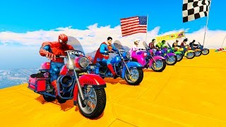 FUN LEARN COLORS POLICE MOTORCYCLES For Children Cartoon 3D Animation