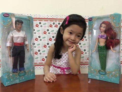 Búp bê công chúa Disney Princess nàng tiên cá Ariel và hoàng tử Eric - The little Mermaid Doll