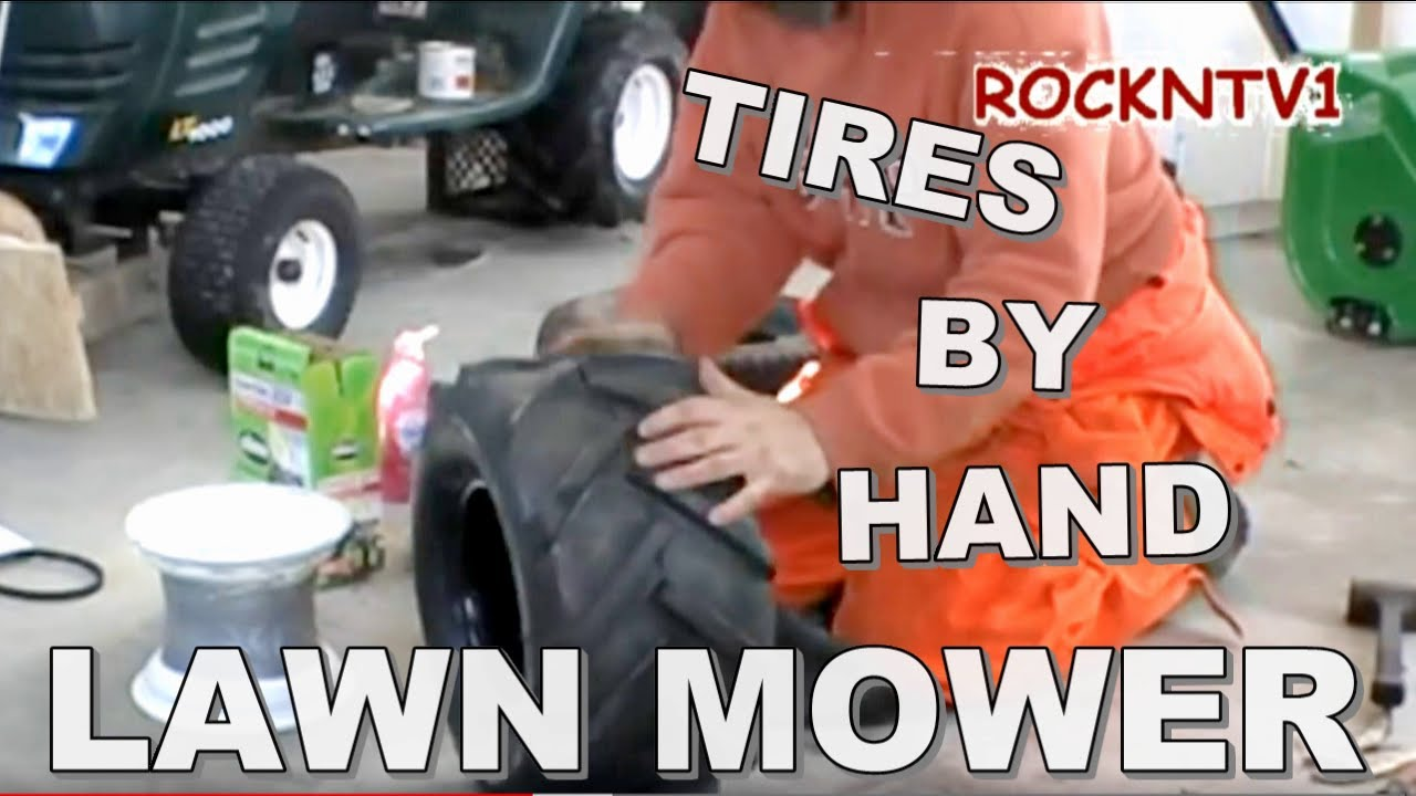 Tire Changing Hand Tools >> Change a Tire by Hand garden tractor or lawn mower and Yard tools with tires - YouTube