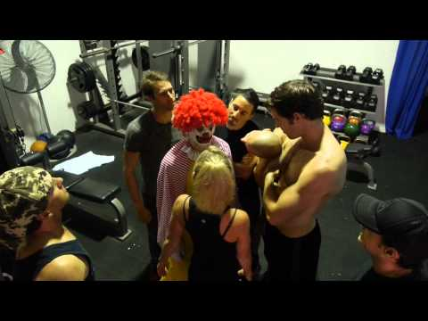 Ronald McDonald hits the GYM!