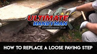 How to fix a loose paving step