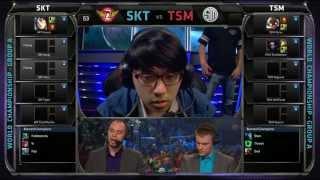 SKT Vs TSM SK Telecom T1 Vs TSM Season 3 Worlds 2013