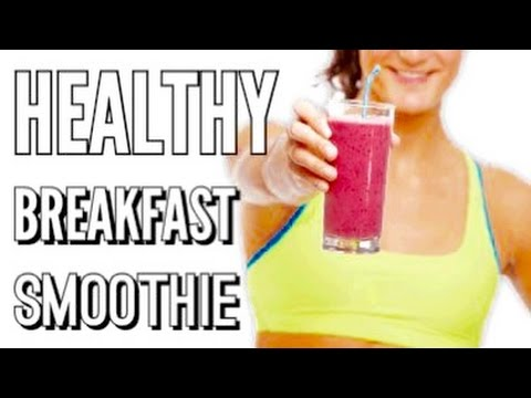 Healthy Berrylicious Breakfast Smoothie (Great for Youthful Skin & Weight Loss)