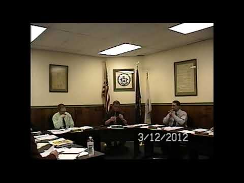 Champlain Village Board Meeting 3-12-12
